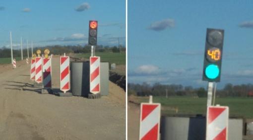 Širvintų rajone eismą reguliuoja šviesoforas