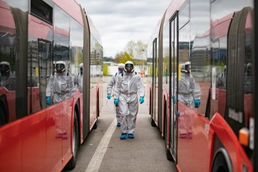 Viešasis transportas Vilniuje – kursuos dažniau, bus talpesnis, dezinfekuojamas po kiekvieno reiso