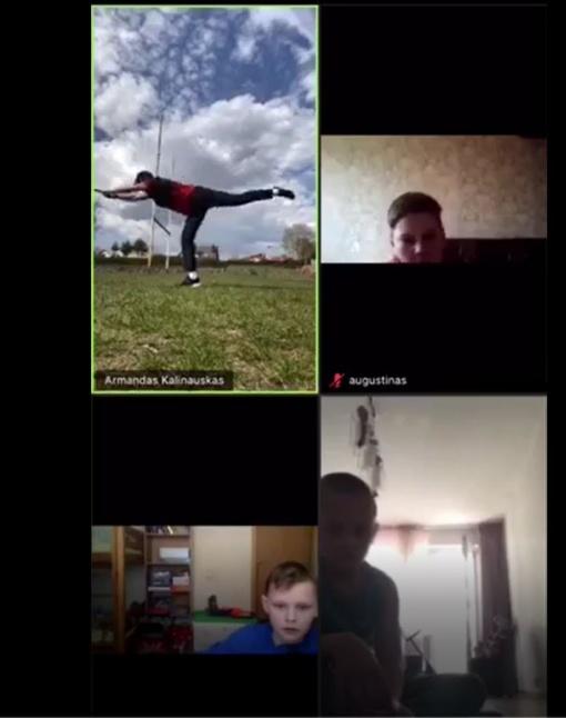 Karantino pliusai: nuotolinės treniruotės su Armandu Kalinausku