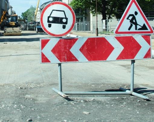 Maironio gatvėje bus ribojamas eismas
