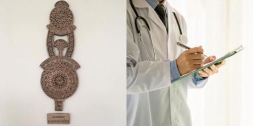 Ukmergiškis tautodailininkas visiems rajono medikams padovanojo savo kūrinį