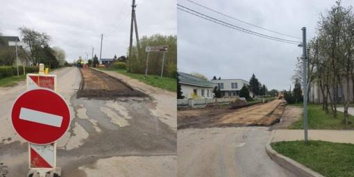 Darbai Rokiškyje vyksta: pradedama Aušros gatvės rekonstrukcija