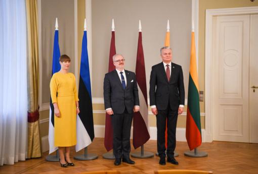 """Baltijos šalių prezidentai smerkia Rusijos """"apgailėtinus bandymus klastoti istoriją"""""""