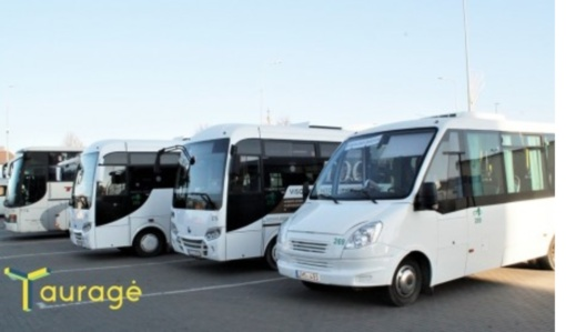 Nuo pirmadienio Tauragėje atnaujinami autobusų maršrutai