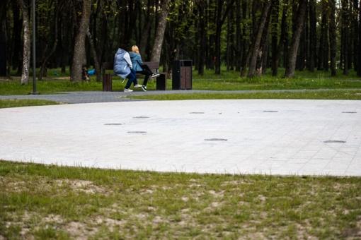Kultūros ir poilsio parke vos parą paveikęs fontanas – sugedo