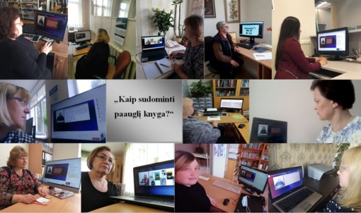 Pagėgių krašto bibliotekininkės kėlė kvalifikaciją nuotoliniame seminare