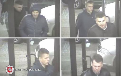 Policija prašo padėti atpažinti šiuos asmenis