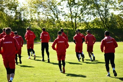 """FK """"Panevėžys"""" futbolininkai pasirengę grįžti į A lygos čempionato kovas"""