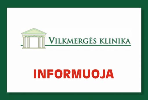 """""""Vilkmergės klinika"""" parengė ambulatorinių asmens sveikatos priežiūros paslaugų atnaujinimo planą"""