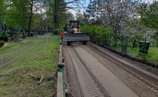 Radžiūnuose ir Rumbonyse bus tiesiamas asfaltas