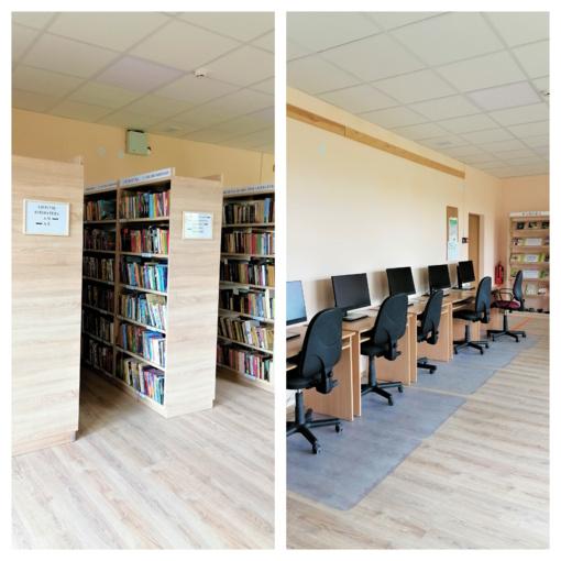 Po remonto duris atvėrė Skuodo rajono savivaldybės R. Granausko viešosios bibliotekos Daukšių filialas