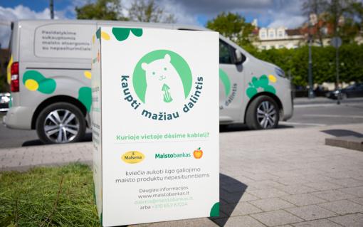 """""""Maisto banko"""" autobusiukas užsuks ir į Panevėžį: žmonės kviečiami dalintis sukauptomis maisto atsargomis"""