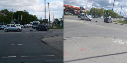 Panevėžyje Beržų gatvėje eismo įvykis