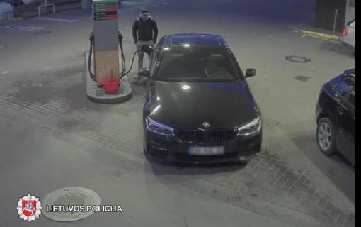 Policija prašo padėti atpažinti BMW vairuotoją