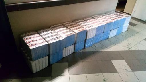 Kabelių pasieniečiai sulaikė kontrabandininką ir 10 tūkst. pakelių cigarečių