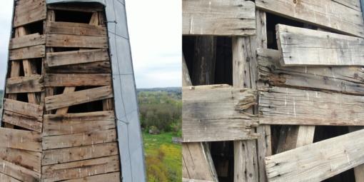 Rokiškio rajono gyventojus gąsdina Obelių bažnyčios griūvantys bokštai