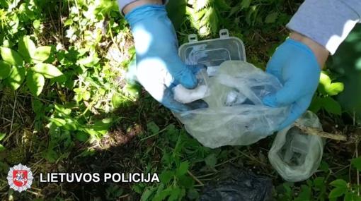 Vilniaus policija sulaikė narkotikų prekeivę (vaizdo įrašas)