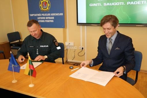 Utenos policija ir Utenos kultūros centras pasirašė bendradarbiavimo sutartį