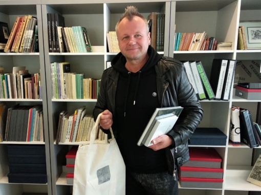 Į bibliotekos globėjų gretas įsijungė Saulius Urbonavičius-Samas