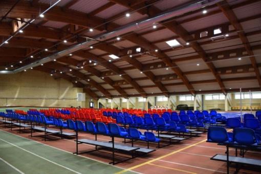 Panevėžyje tęsiamas lengvosios atletikos maniežo modernizavimas