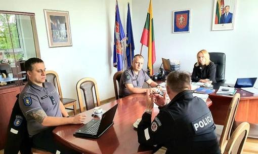 Policijos ir priešgaisrinės apsaugos tarnybų vadovai lankėsi savivaldybėje