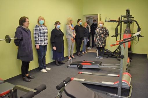 Naujai įrengta treniruoklių salė Musninkų Alfonso Petrulio gimnazijoje