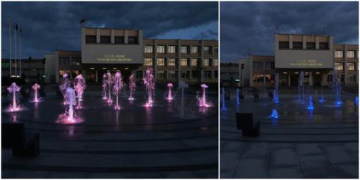 Aušros aikštės fontanas Radviliškyje visu grožiu sužibės birželio 1-ąją