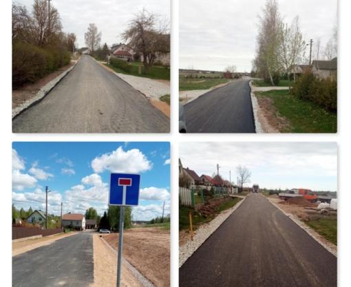 Užbaigti trijų gatvių asfaltavimo darbai