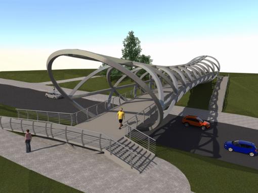 Jonavoje už beveik 2,3 mln. eurų planuojama įrengti pėsčiųjų tiltą per Žeimių gatvę