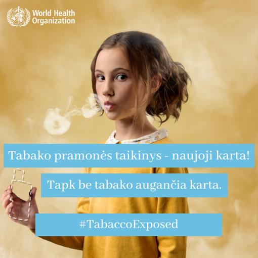 Pasaulinė diena be tabako – apsaugokime jaunimą