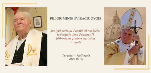 Dviračių žygiu bus pagerbtas kunigo prelato Juzefo Obrembskio ir šventojo Jono Pauliaus II atminimas