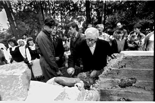 Sukanka 30 metų, kai buvo pašventinti gimtosios Dr. Jono Basanavičiaus sodybos gyvenamojo namo pamatai