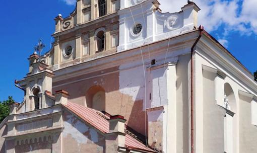 Susirūpinta Merkinės bažnyčioje vykstančiais darbais