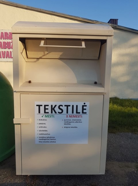 Pradės veikti atliekų surinkimo aikštelė, bus galima naudotis tekstilės atliekų konteineriais