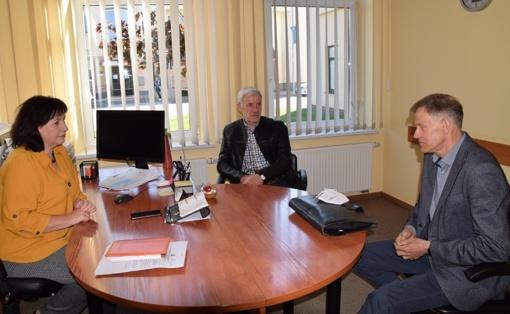 Savivaldybėje lankėsi Lietuvos gaisrinės saugos asociacijos prezidentas V. Kaziliūnas