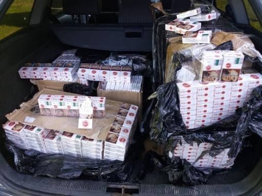 Netoli Druskininkų pasieniečiai aptiko 1750 pakelių baltarusiškų cigarečių