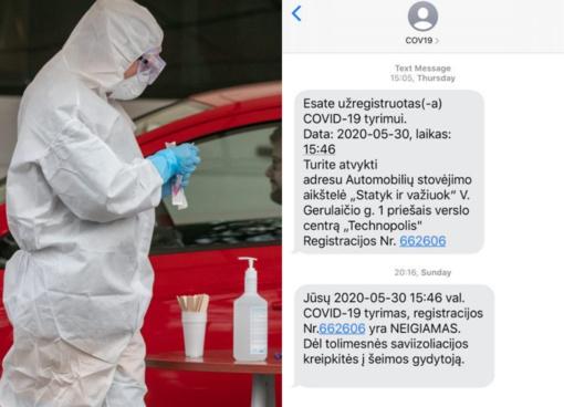 Moteris koronaviruso testo nesidarė, bet vis tiek gavo tyrimo atsakymą