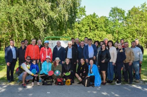 Panevėžiečiai pristatė diskgolfo sporto šaką