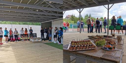 Jurbarke atidaryta terasa šalia teniso aikštės