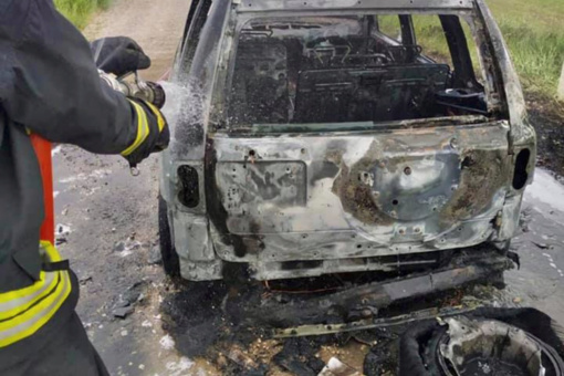 Kupiškio rajone sudegė automobilis