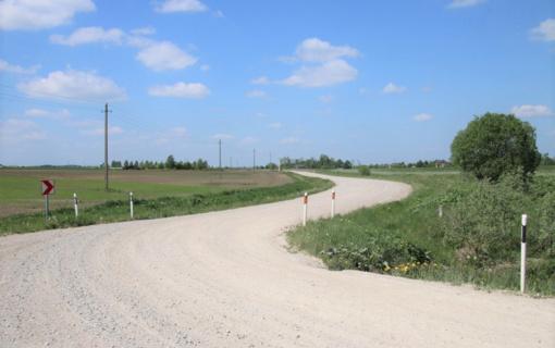 Penkiose savivaldybėse bus išasfaltuota 10 žvyrkelių ruožų