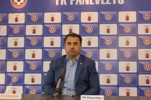 """FK """"Panevėžys"""" atsisveikino su vyriausiuoju treneriu"""