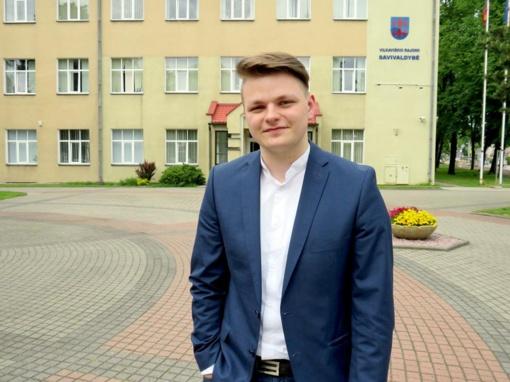 Vilkaviškio rajono mero komandą papildžiusį studentą džiugina pokyčiai