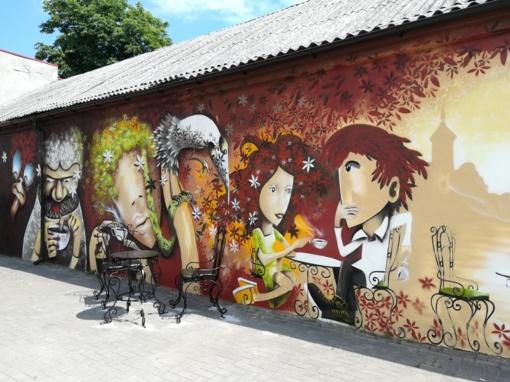Kelmės miesto erdvę papuošė didžiulė freska