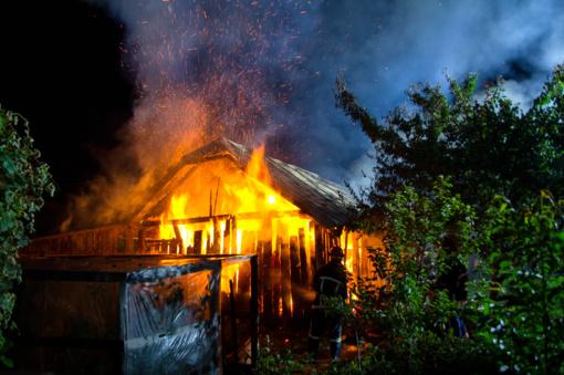 Kruonio miestelyje degė gyvenamasis namas