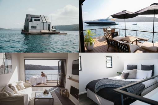 Geriausia vieta  jaukiam porų poilsiui – namas ant vandens