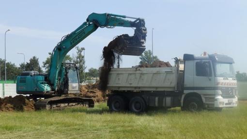 Baseino statybos darbai pradėti