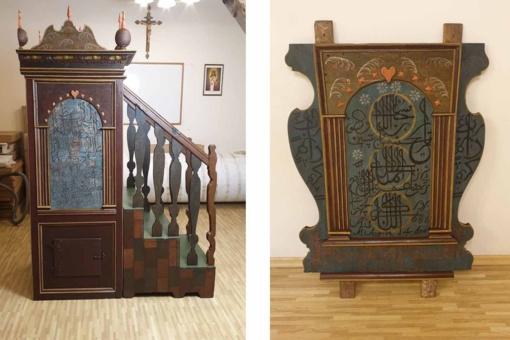 Restauruotas Raižių totorių mečetės minbaras