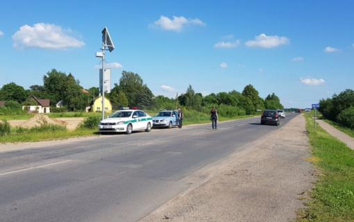 Pareigūnai intensyviai fiksavo vairuotojų daromus pažeidimus