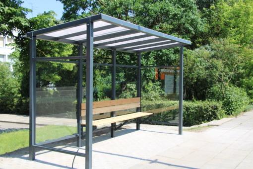 Marijampolės mieste – dar keturi nauji viešojo transporto laukimo paviljonai